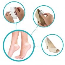 Coussinets de talon transparent pour réduire la friction entre les chaussures et les pieds<br />