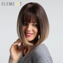 Perruque Cheveux Synthétique. Couleur: Ombre Purple / Ombre Brown / Ombre Light Blonde / الباروكة الاصطناعية