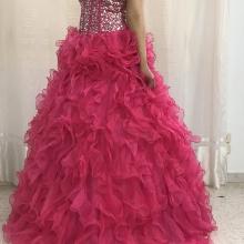 Robe fiançailles style barbie en couleur rose