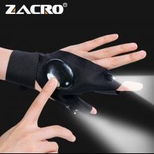 Gants de pêche Éclairage LED haute luminosité pour offrir plus de commodité à votre pêche de nuit<br />
